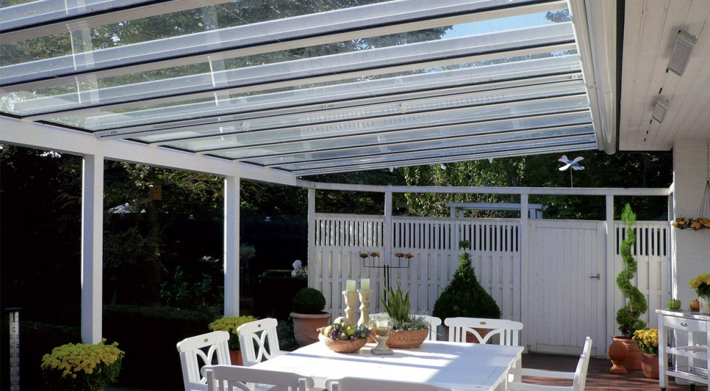 Verandas- sun protection and cover from the rain