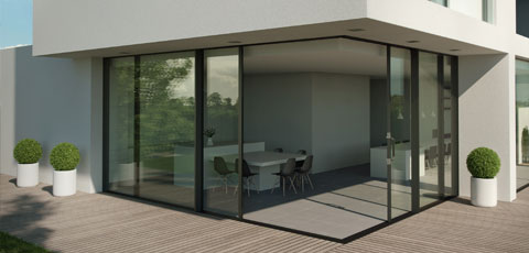 All you need to create a view: a corner, a deck, and sliding doors