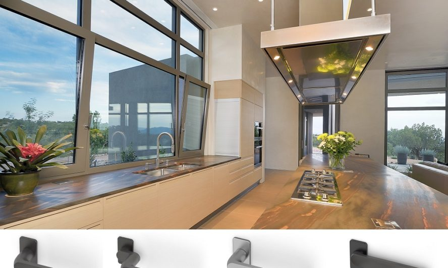 Handles for aluminium doors that help bring the room together