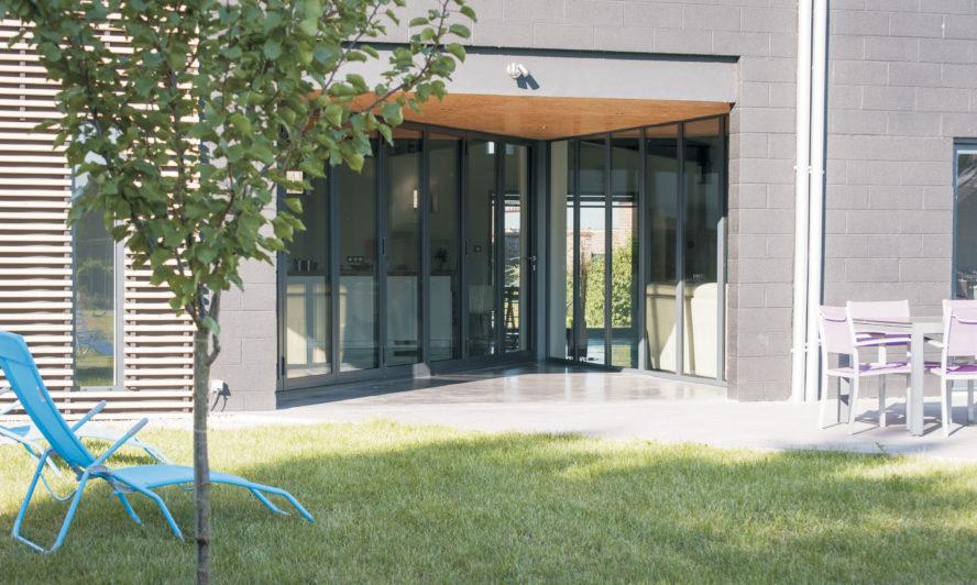 Fitting sliding folding doors to a terrace property