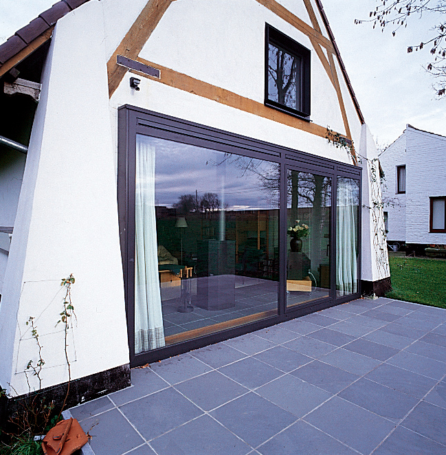 Sliding patio doors for a barn conversion