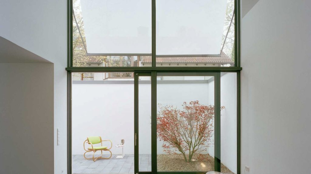 Intimate Walled Garden Windows and Doors