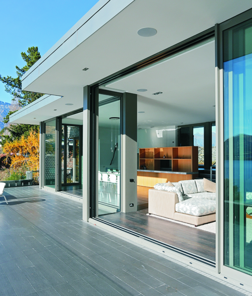 bifold doors with raised threshold in new zealand
