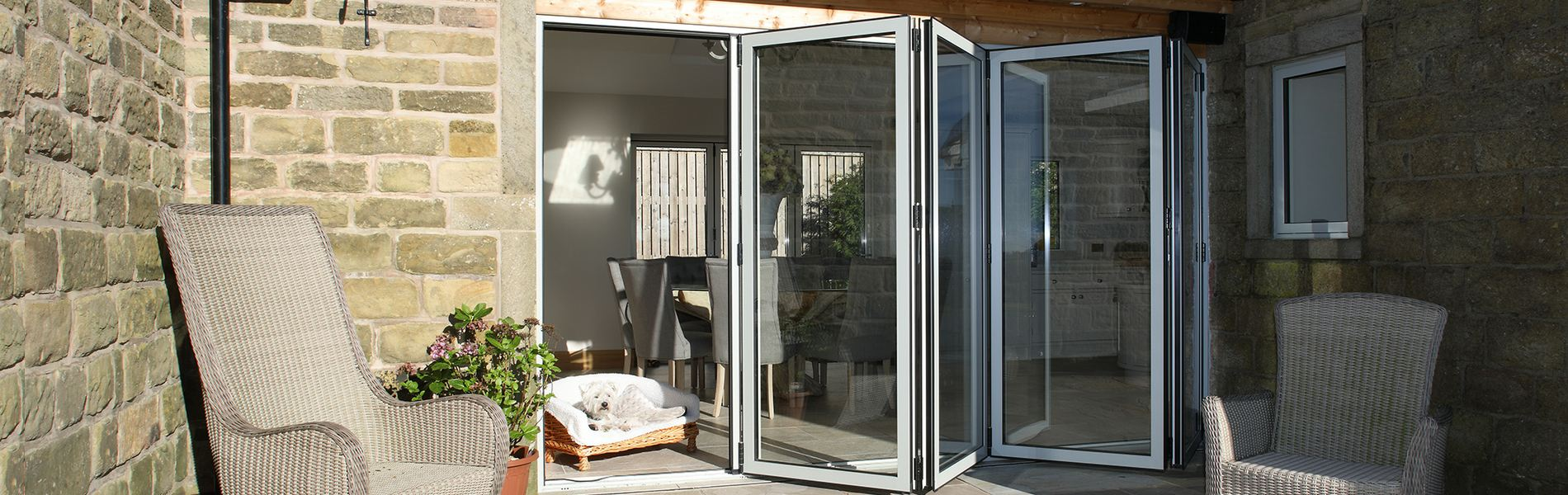 aluminium bifold patio doors