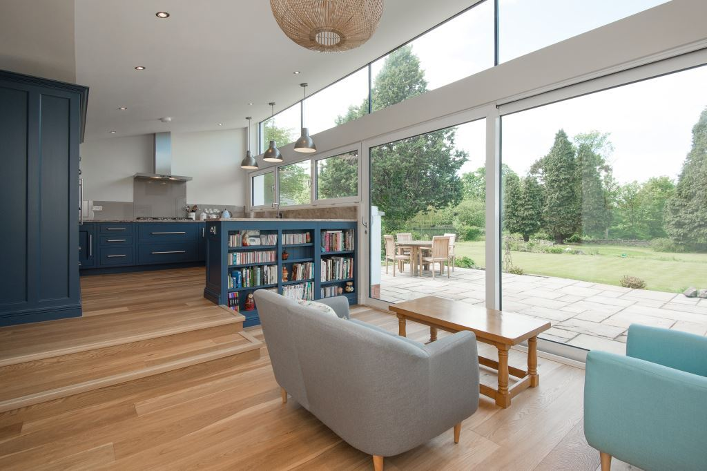 sliding doors in living room