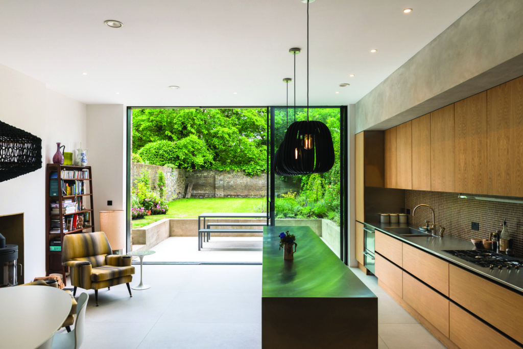 sliding doors in kitchen