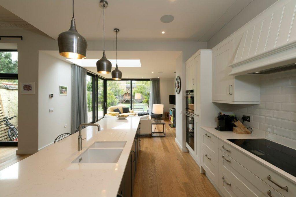 beautiful kitchen with sliding doors