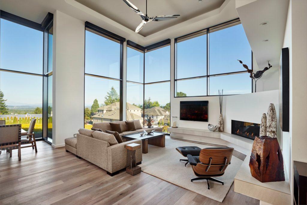 Aluminium windows and doors in a stunning home